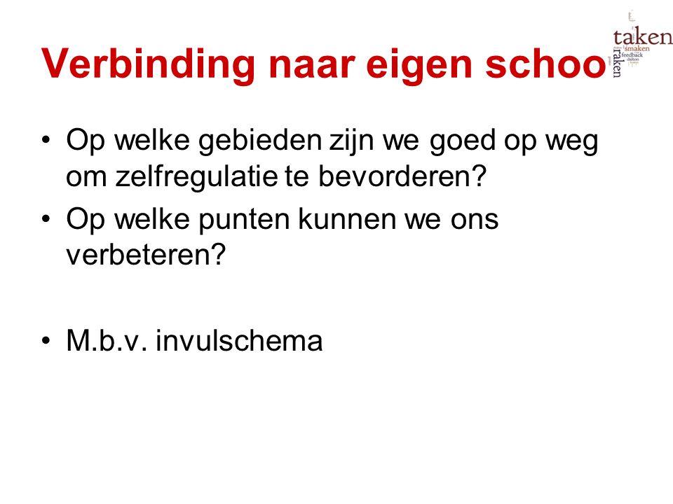 Verbinding naar eigen school:
