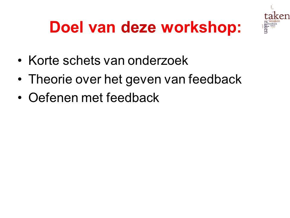 Doel van deze workshop: