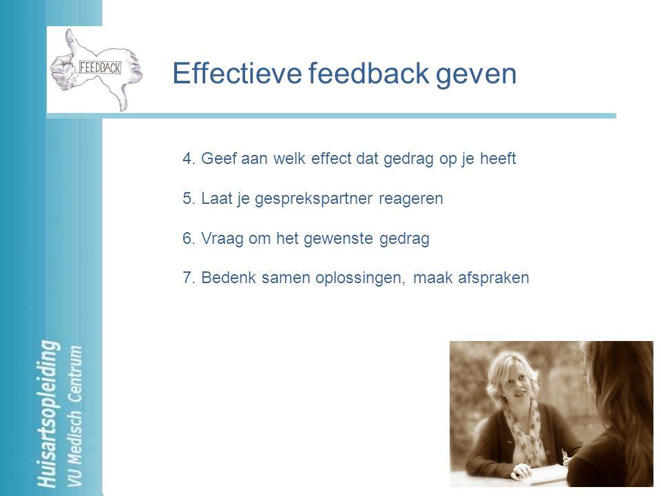 Effectieve feedback geven