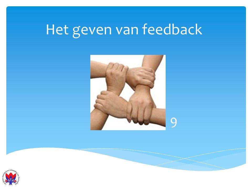 Het geven van feedback 9