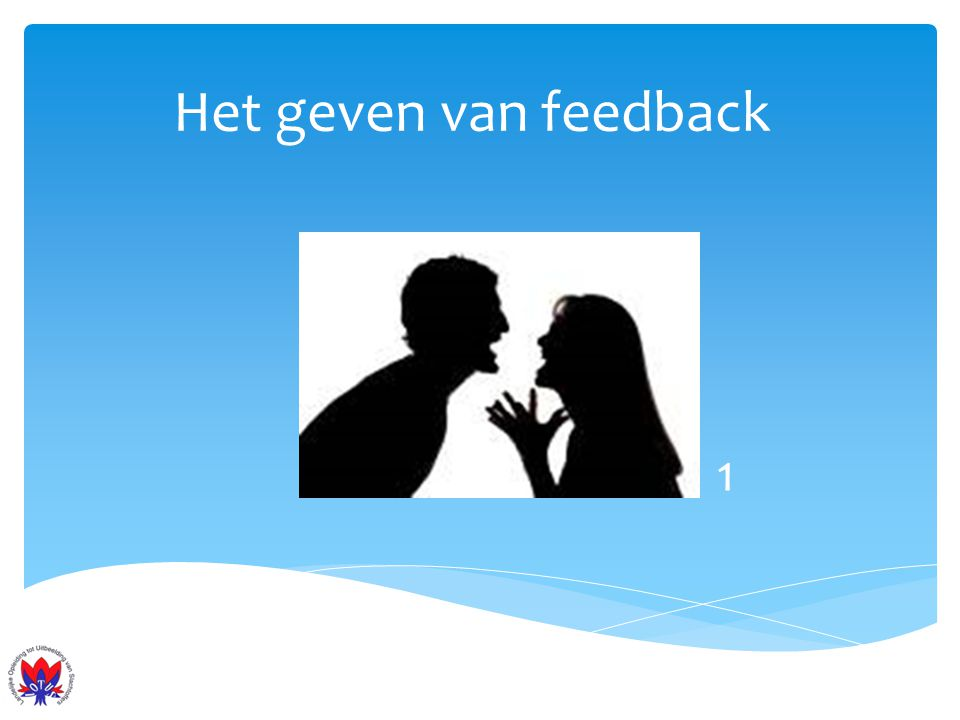 Het geven van feedback 1
