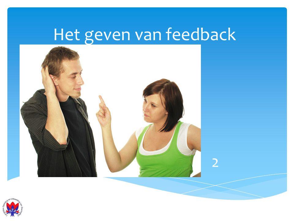 Het geven van feedback 2