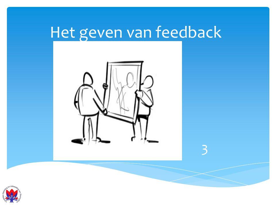 Het geven van feedback 3