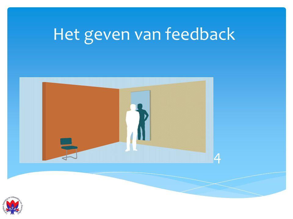 Het geven van feedback 4