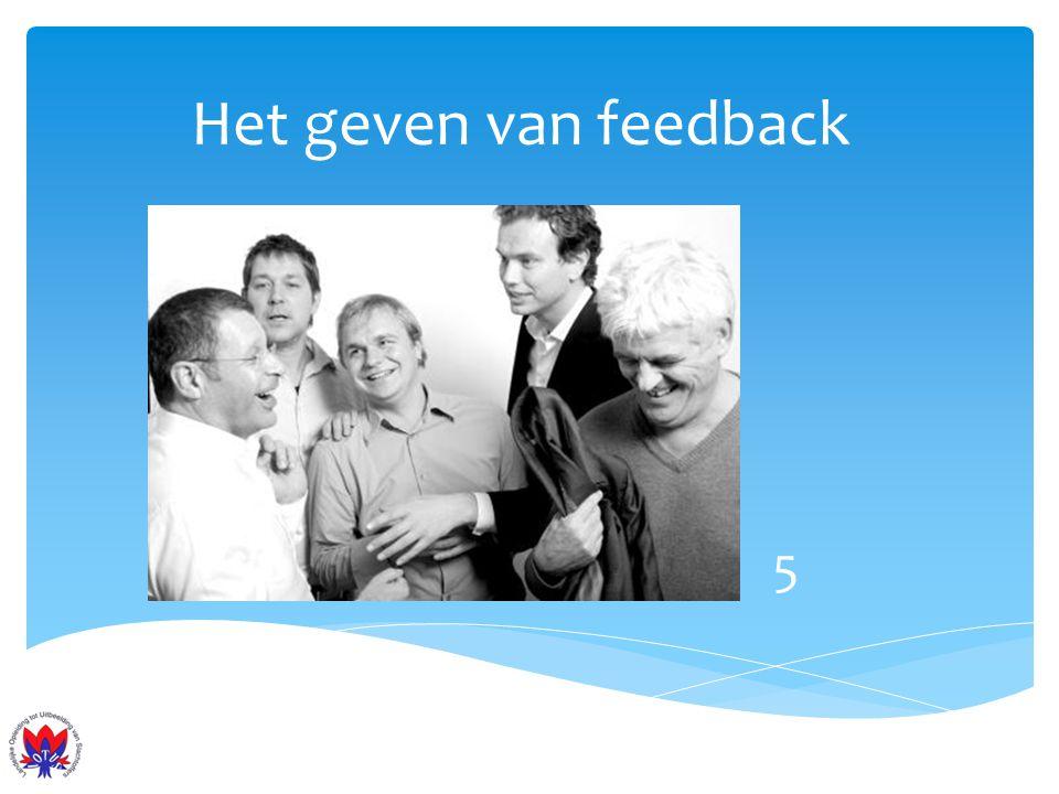 Het geven van feedback 5