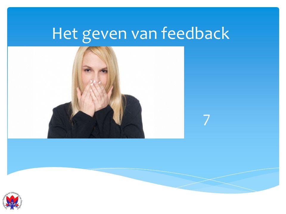 Het geven van feedback 7