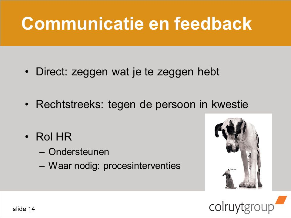 Communicatie en feedback