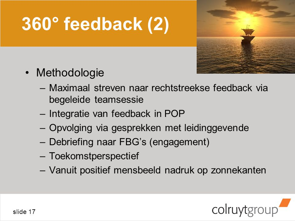360° feedback (2) Methodologie