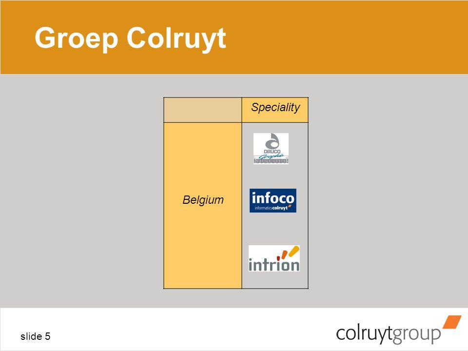 Groep Colruyt 4/04/2017 Speciality Belgium