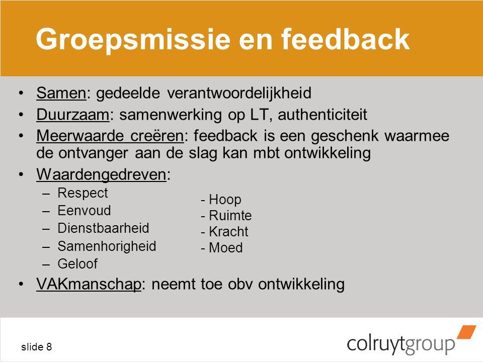 Groepsmissie en feedback