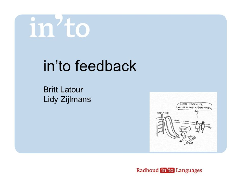 in'to feedback Britt Latour Lidy Zijlmans
