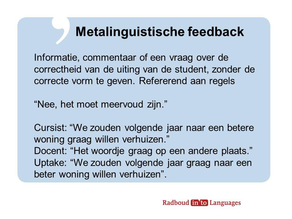 Metalinguistische feedback