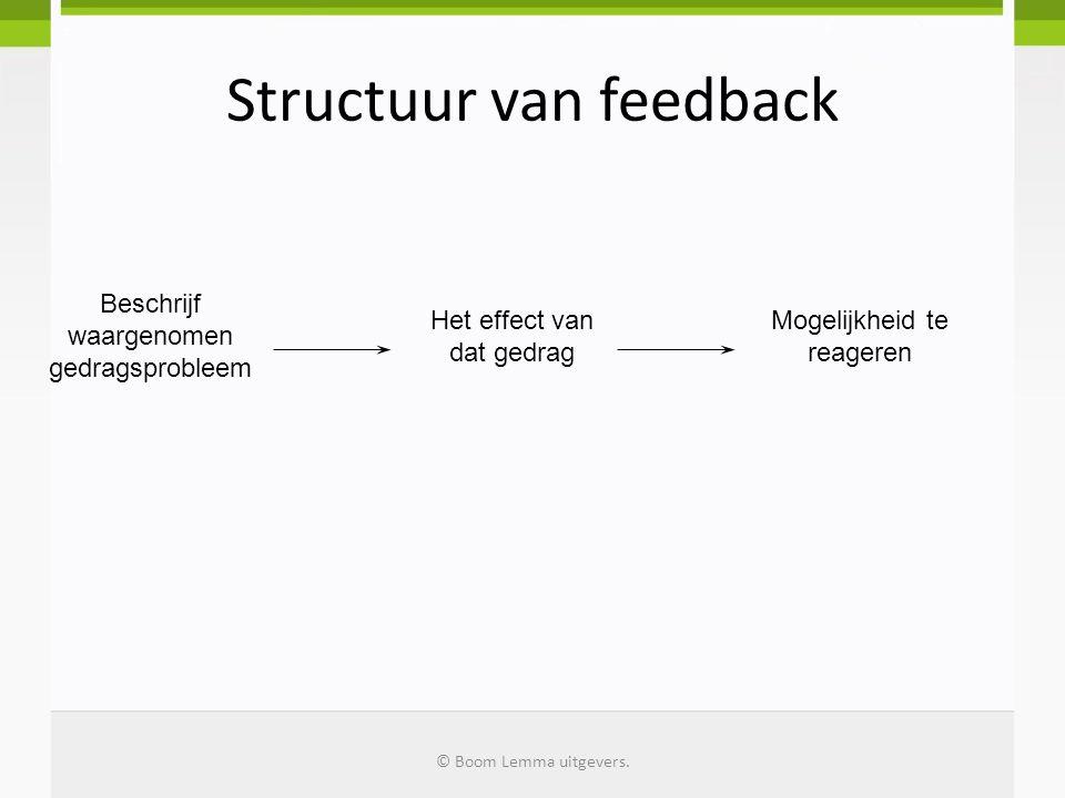 Structuur van feedback