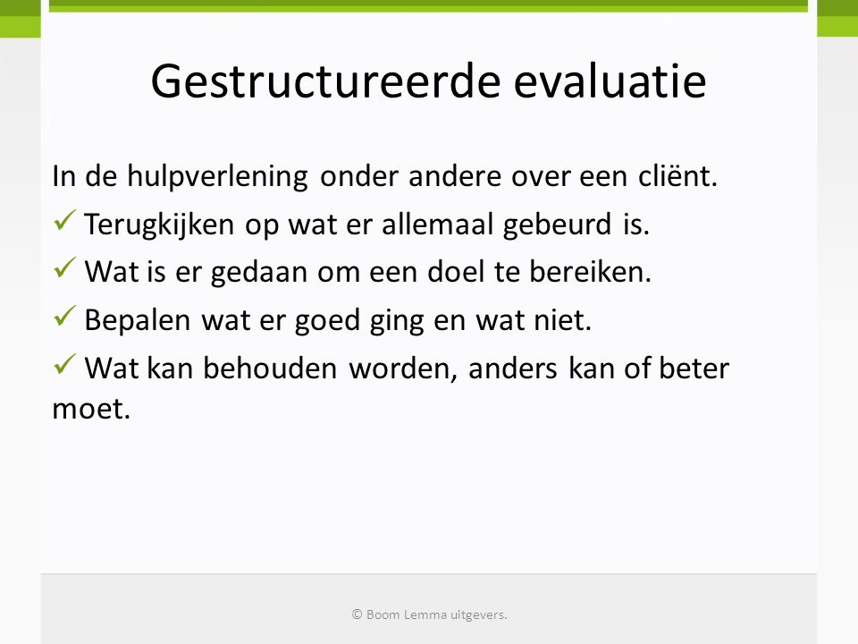 Gestructureerde evaluatie