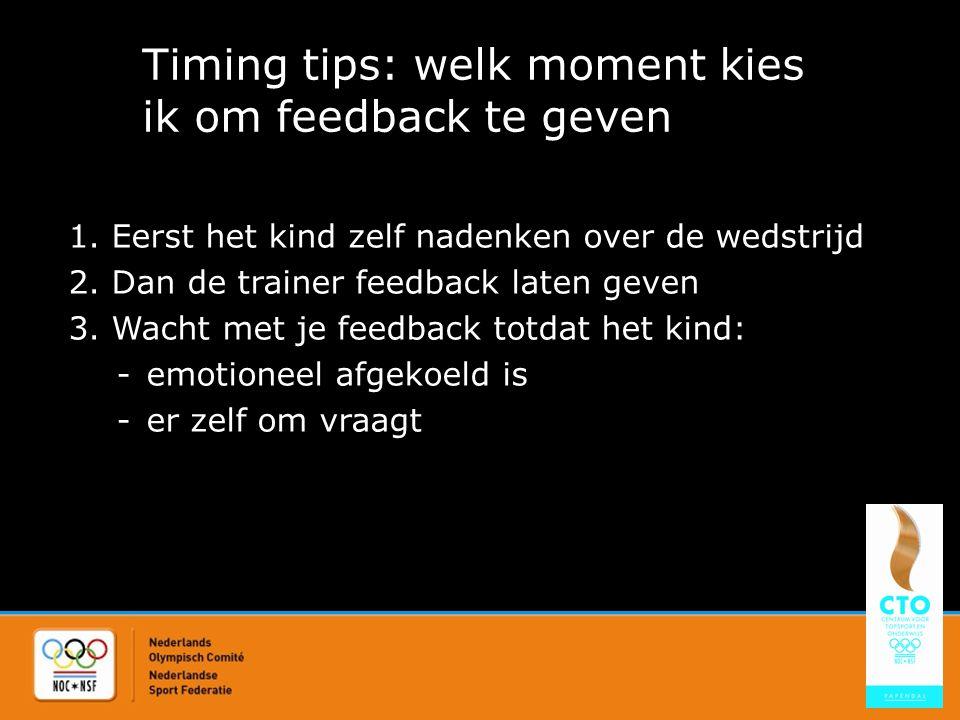 Timing tips: welk moment kies ik om feedback te geven