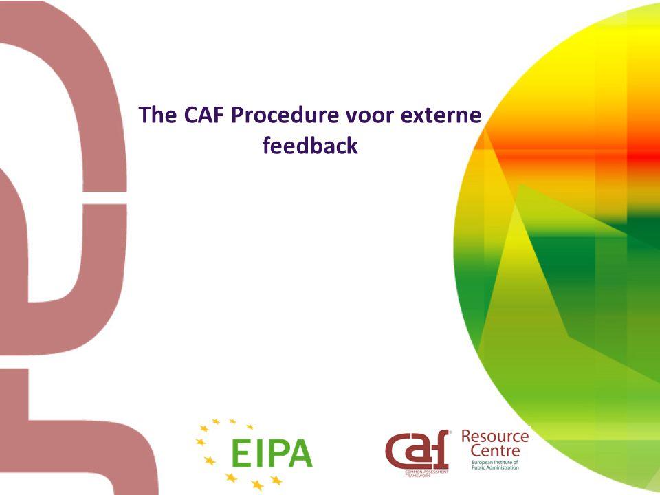 The CAF Procedure voor externe feedback