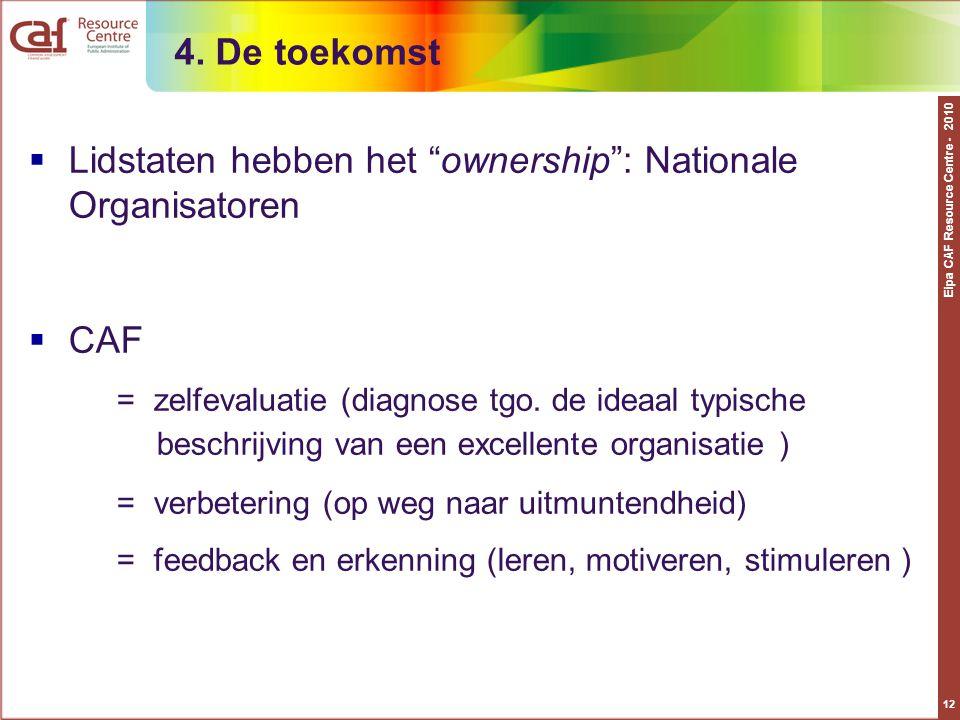 Lidstaten hebben het ownership : Nationale Organisatoren