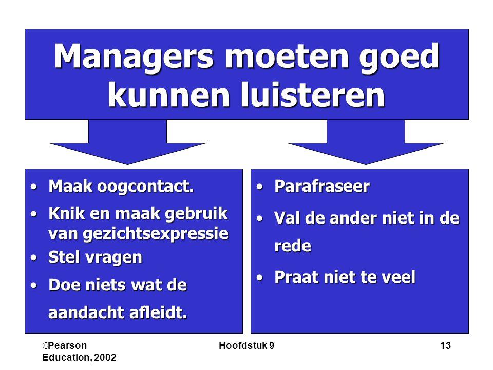 Managers moeten goed kunnen luisteren