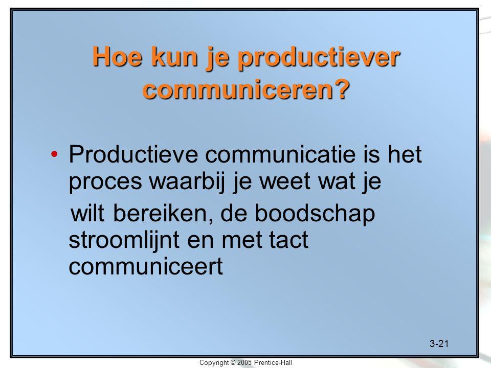 Hoe kun je productiever communiceren