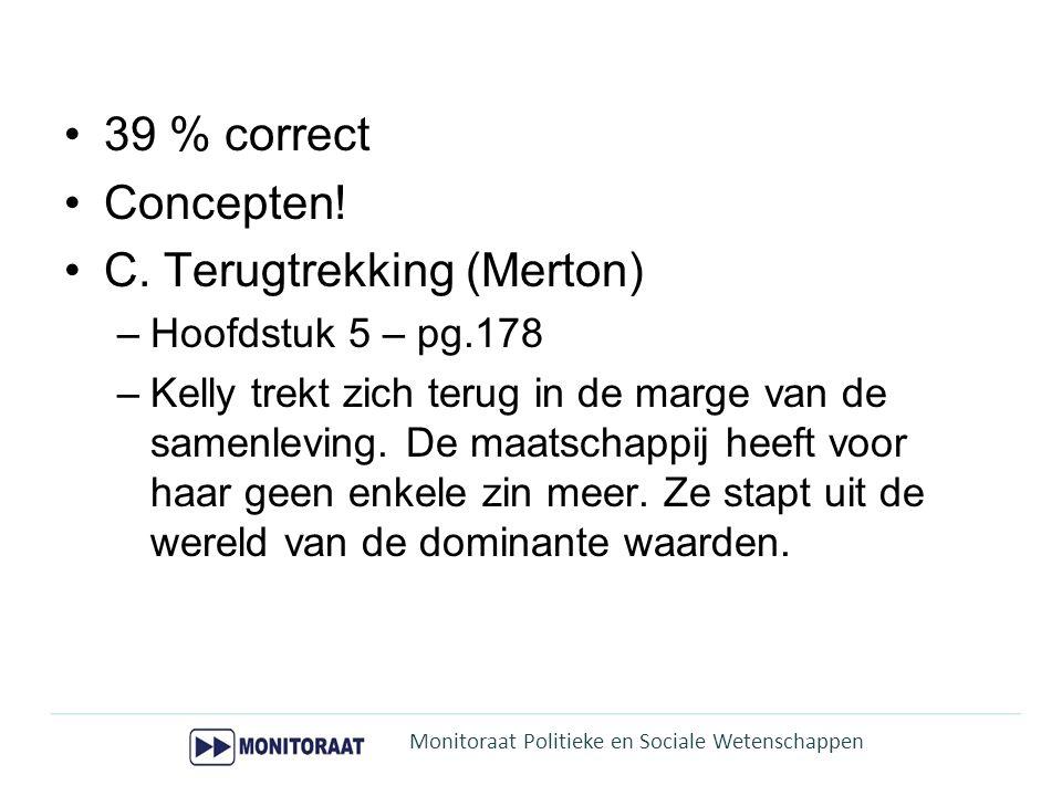 C. Terugtrekking (Merton)