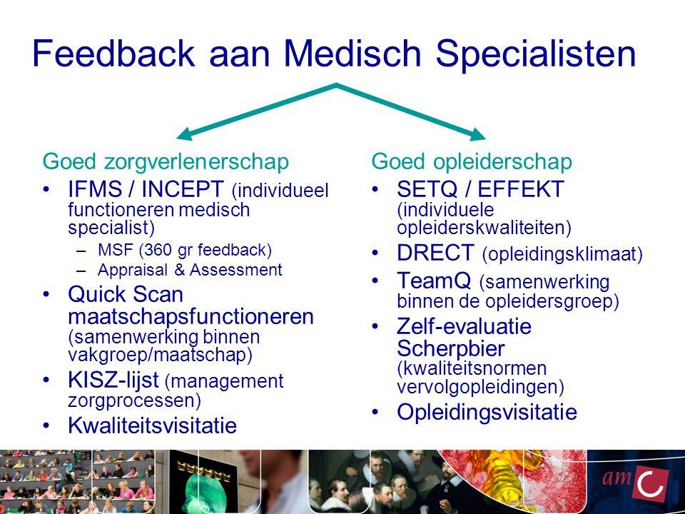 Feedback aan Medisch Specialisten