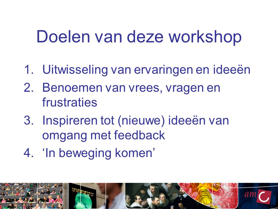 Doelen van deze workshop