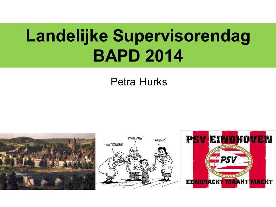 Landelijke Supervisorendag BAPD 2014