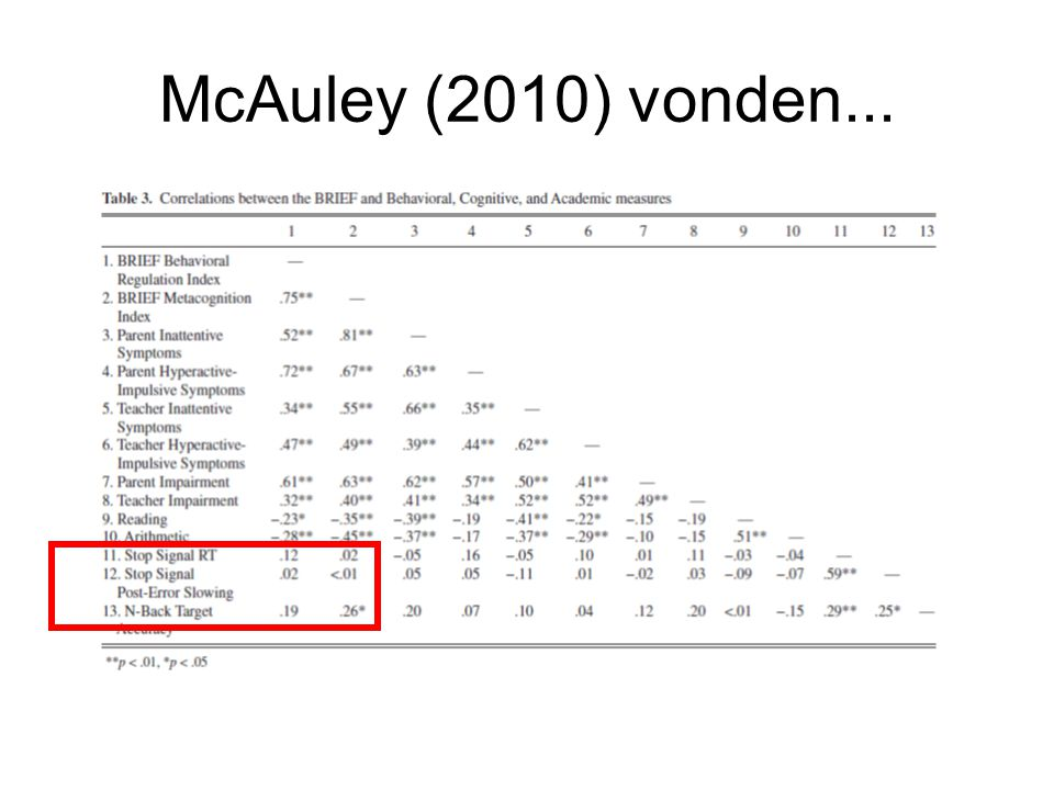 McAuley (2010) vonden...