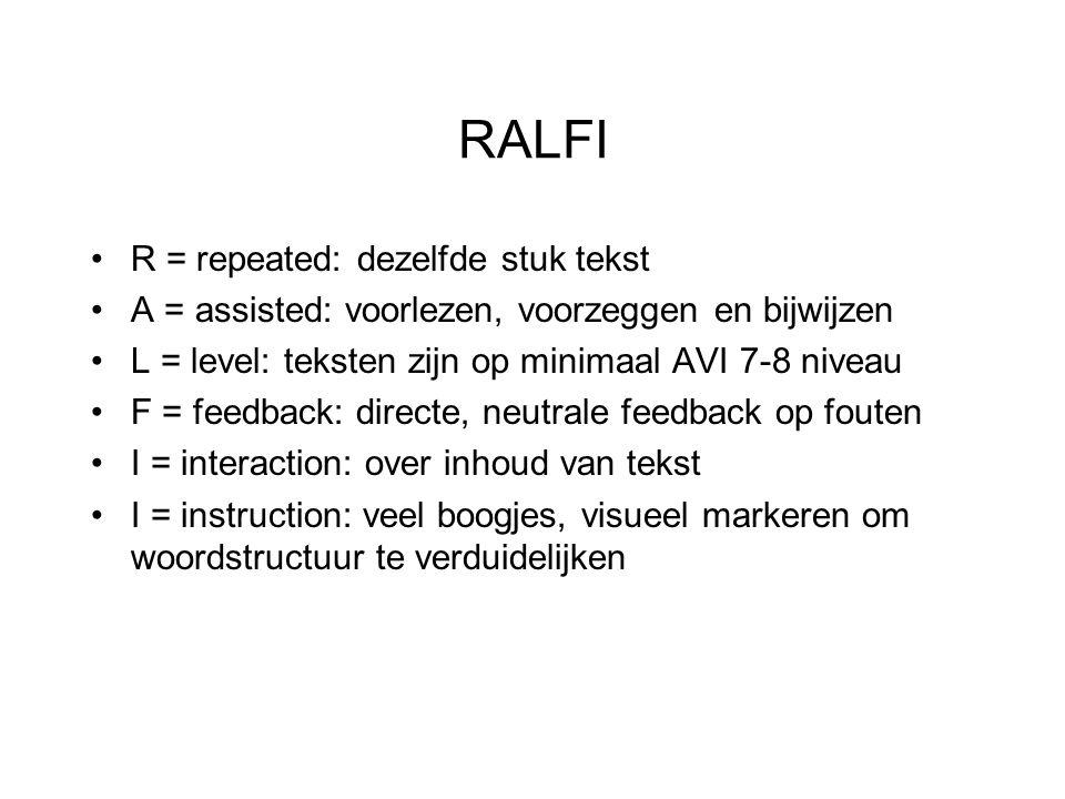 RALFI R = repeated: dezelfde stuk tekst