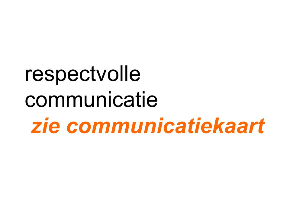 respectvolle communicatie zie communicatiekaart