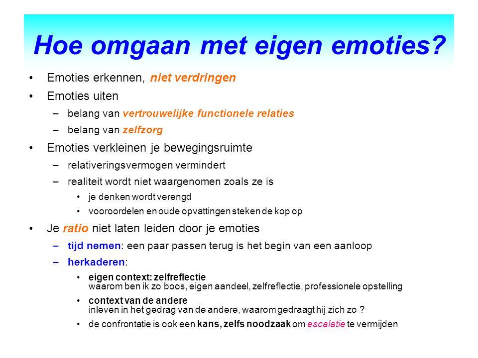 Hoe omgaan met eigen emoties
