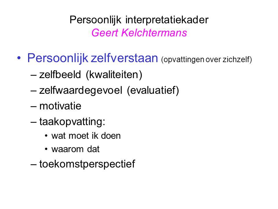Persoonlijk interpretatiekader Geert Kelchtermans