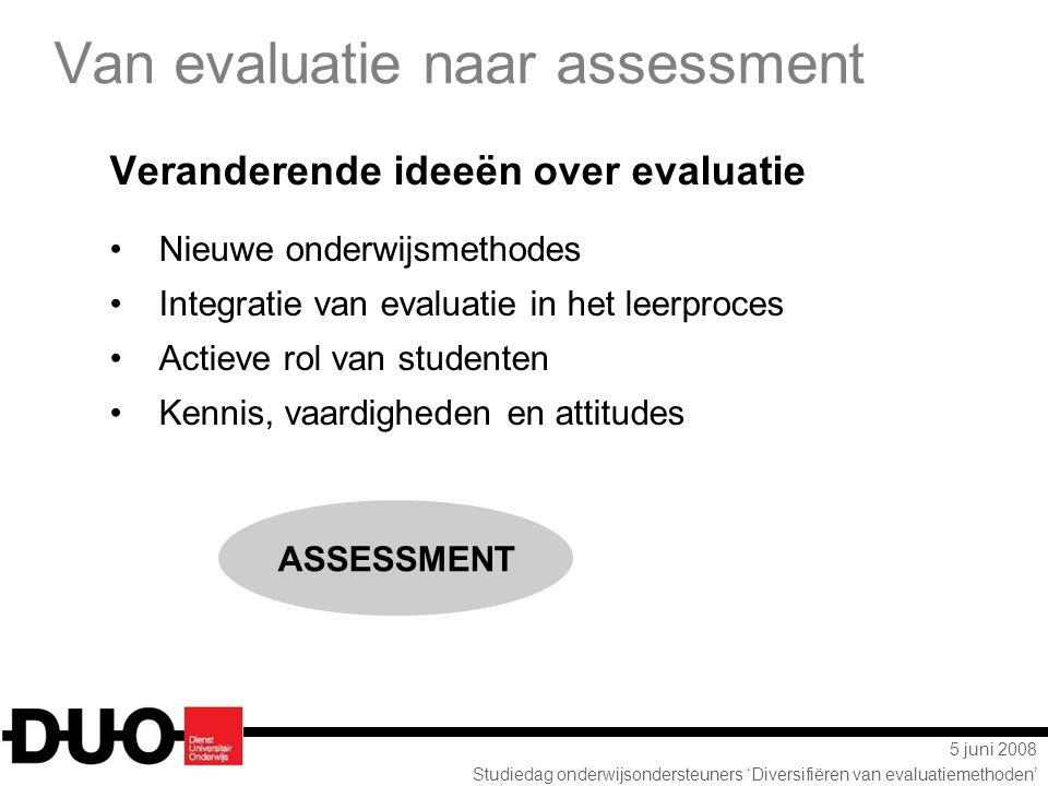 Van evaluatie naar assessment