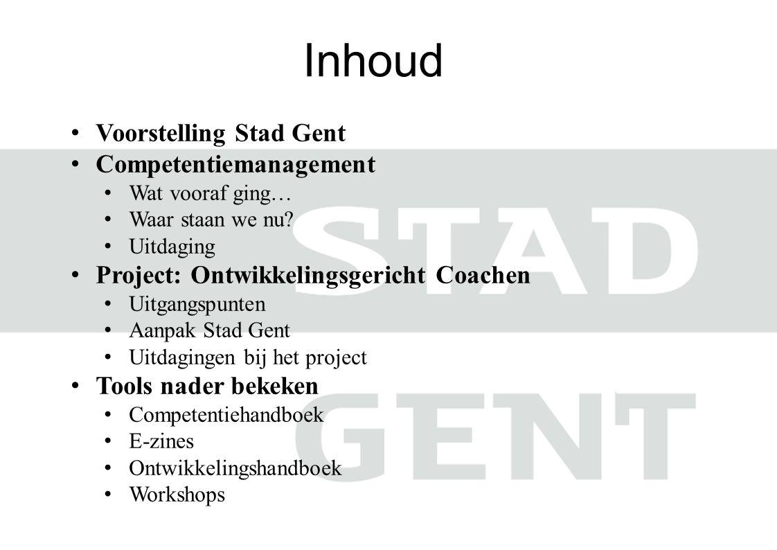 Inhoud Voorstelling Stad Gent Competentiemanagement