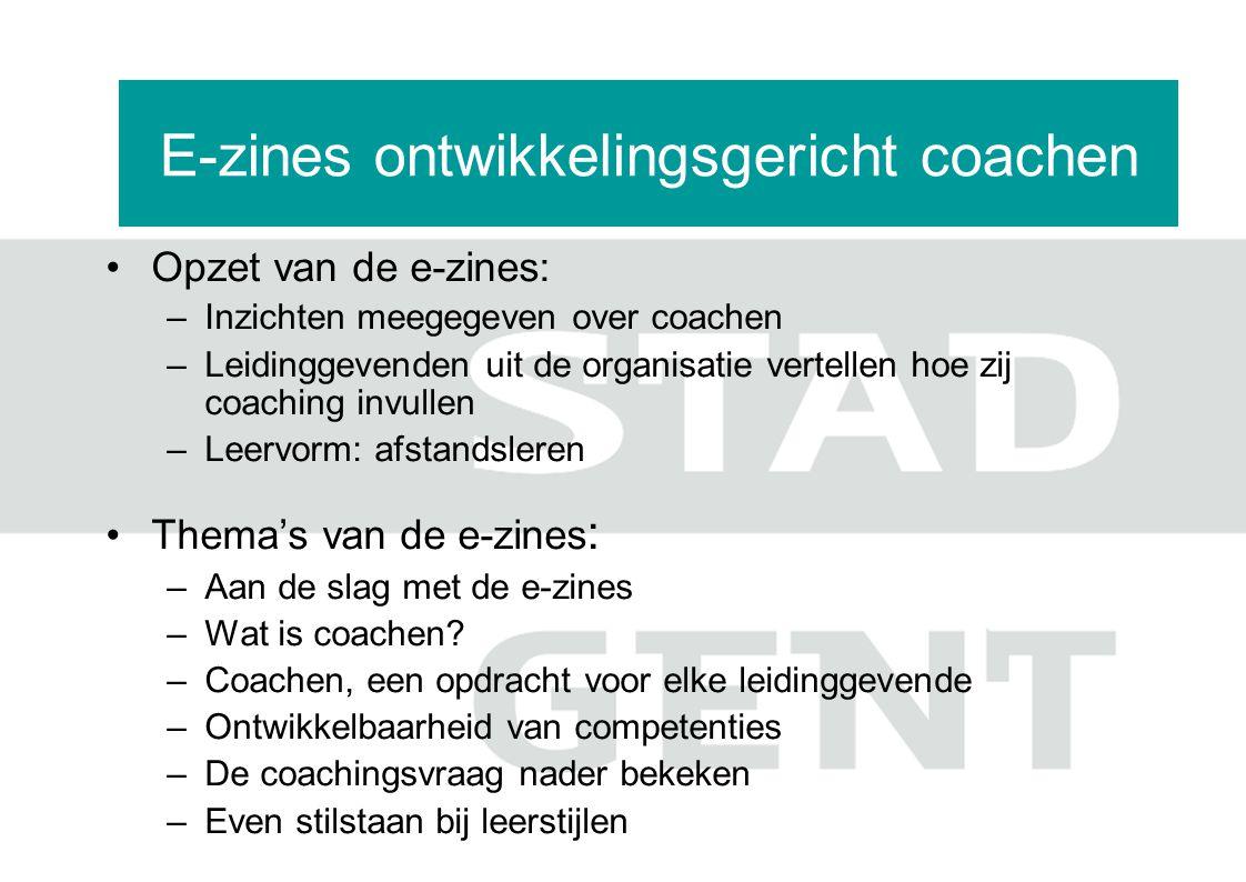 E-zines ontwikkelingsgericht coachen