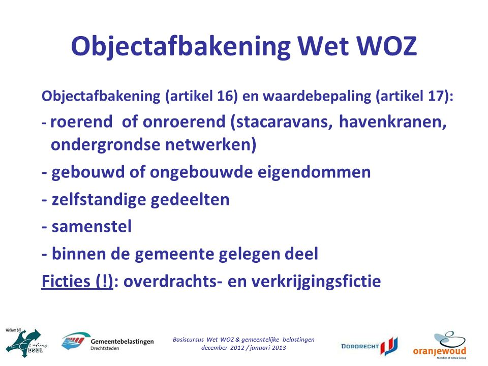 Objectafbakening Wet WOZ