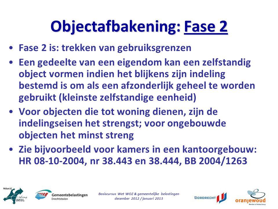 Objectafbakening: Fase 2