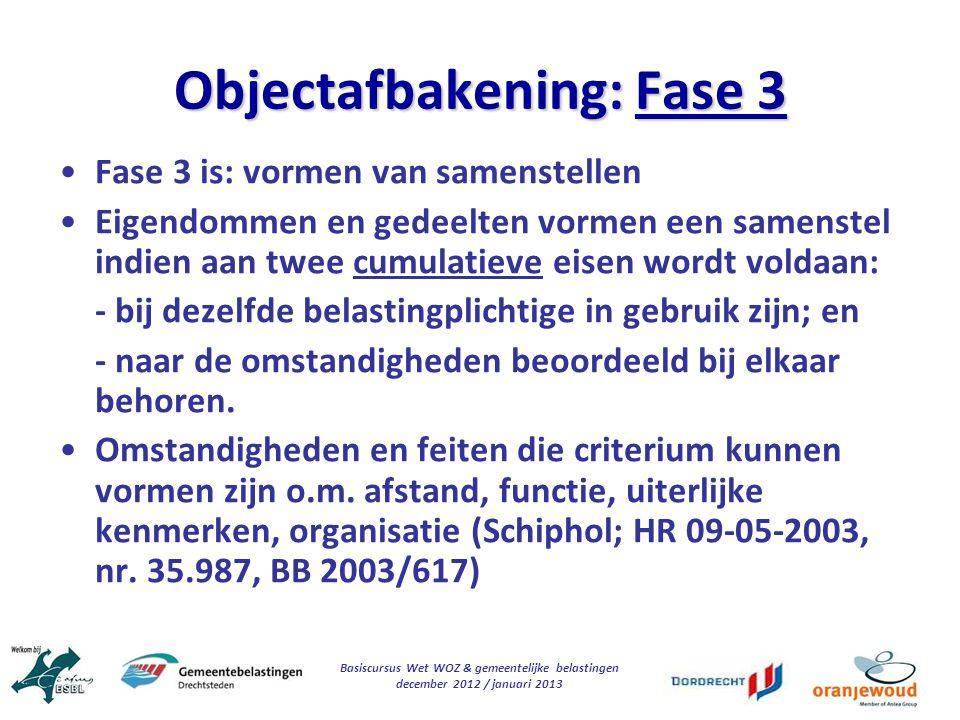 Objectafbakening: Fase 3