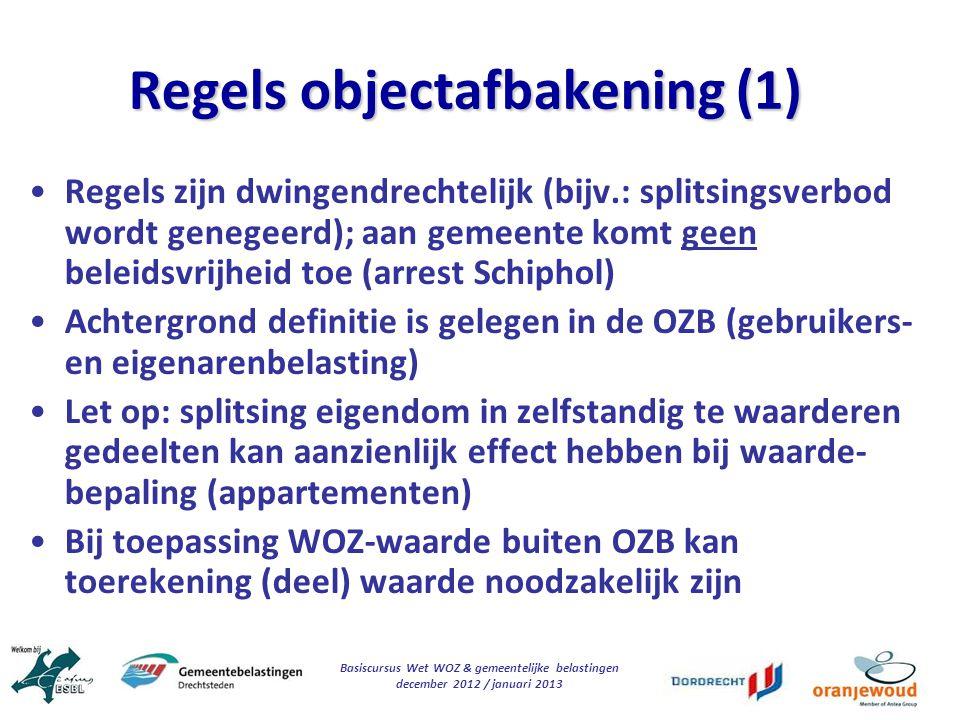 Regels objectafbakening (1)