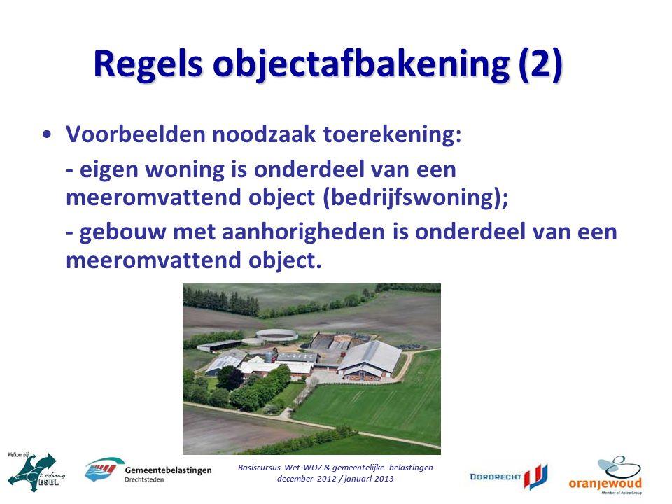 Regels objectafbakening (2)