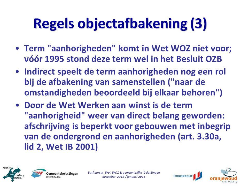Regels objectafbakening (3)
