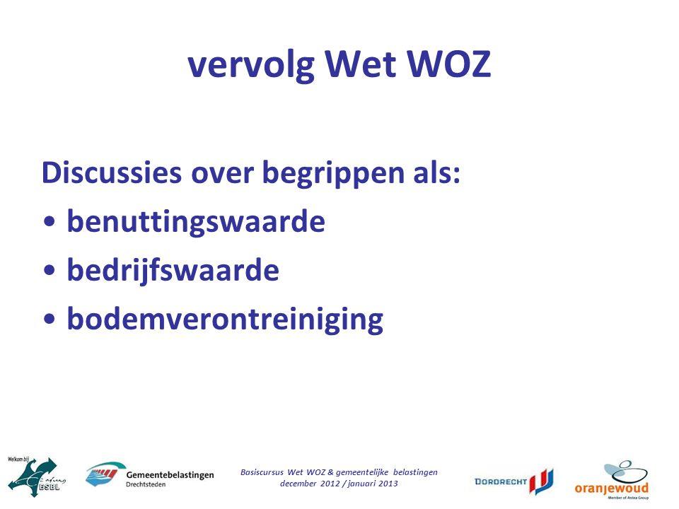 Basiscursus Wet WOZ & gemeentelijke belastingen