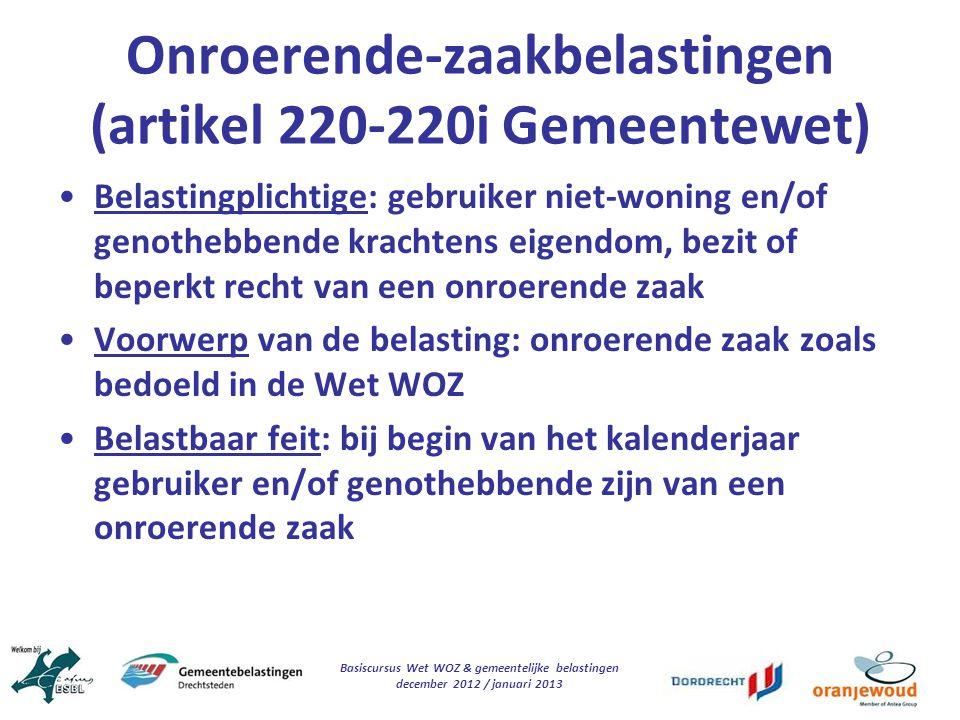 Onroerende-zaakbelastingen (artikel 220-220i Gemeentewet)