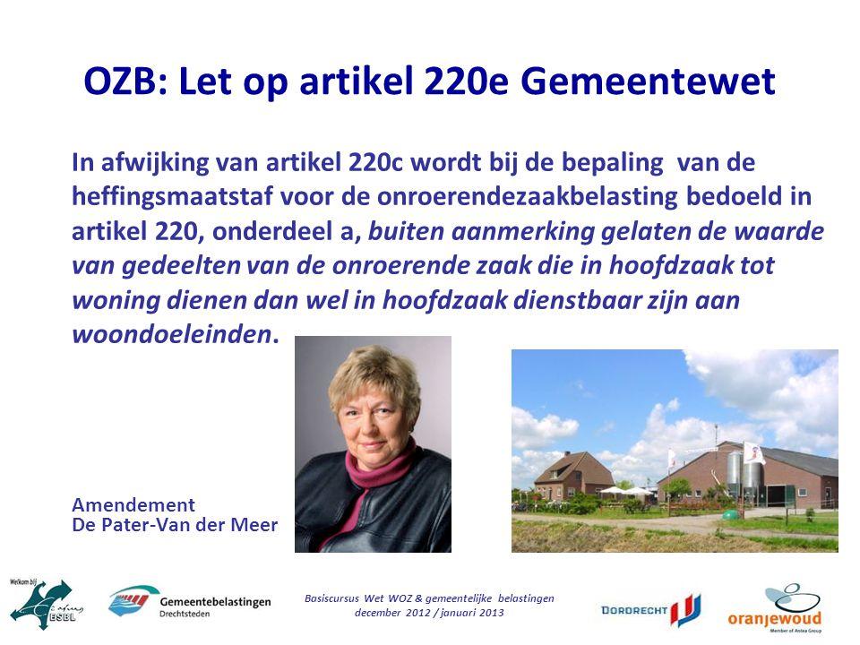 OZB: Let op artikel 220e Gemeentewet