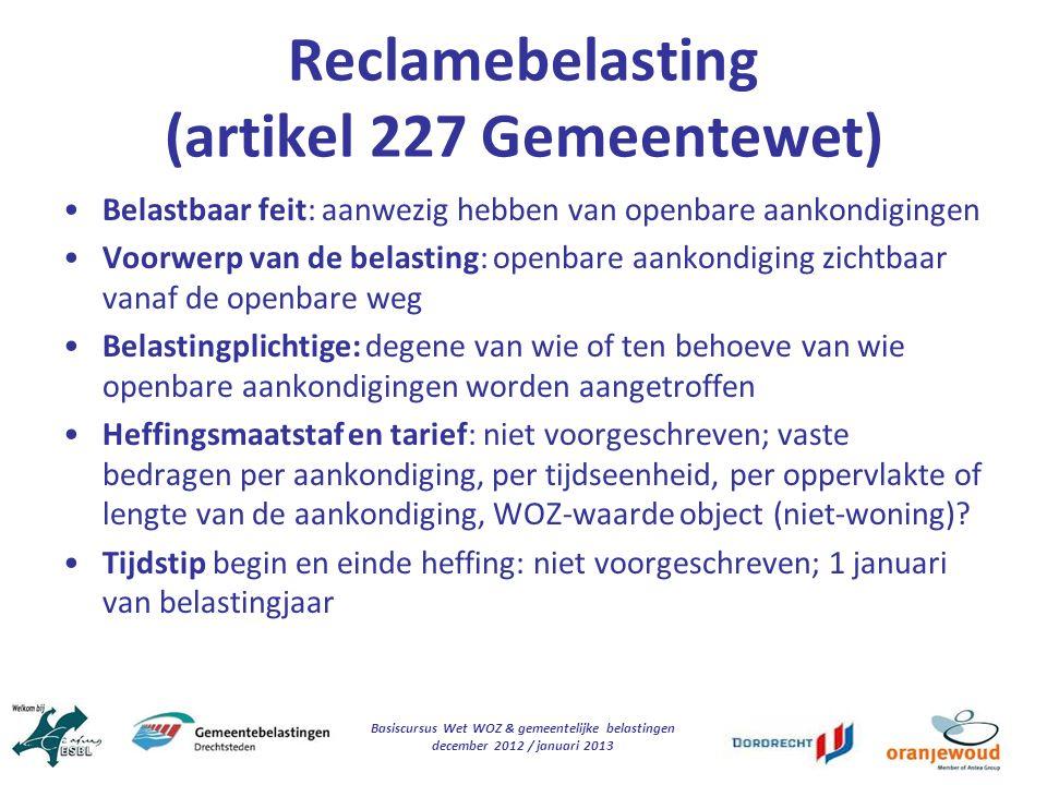 Reclamebelasting (artikel 227 Gemeentewet)