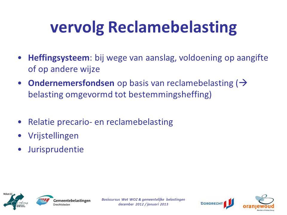 vervolg Reclamebelasting