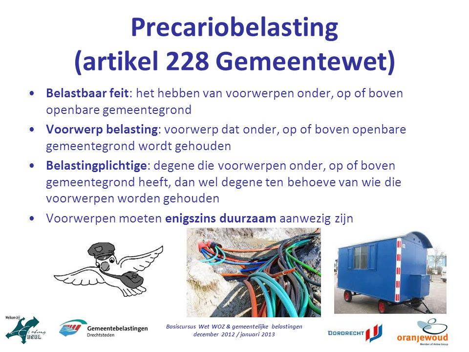 Precariobelasting (artikel 228 Gemeentewet)