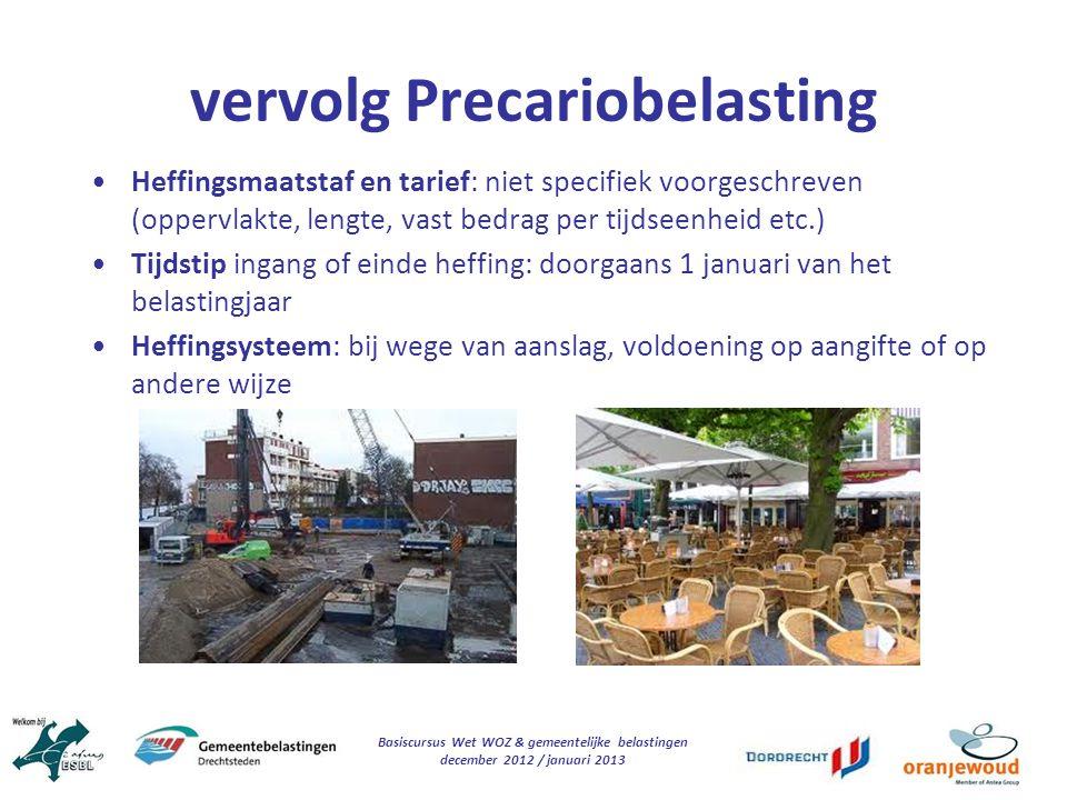 vervolg Precariobelasting