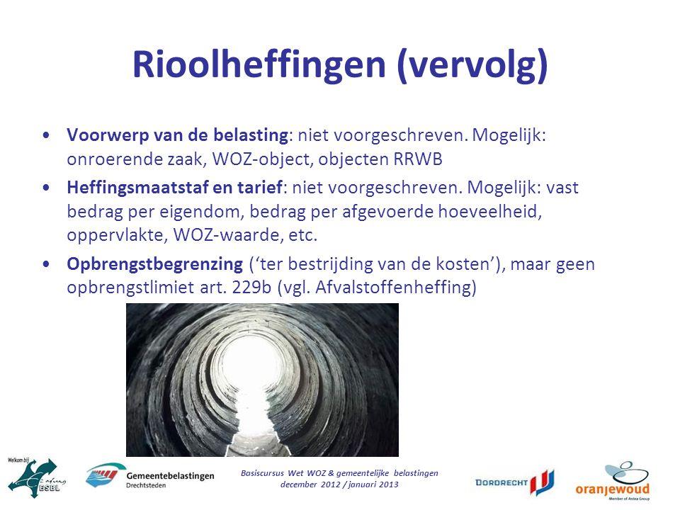 Rioolheffingen (vervolg)