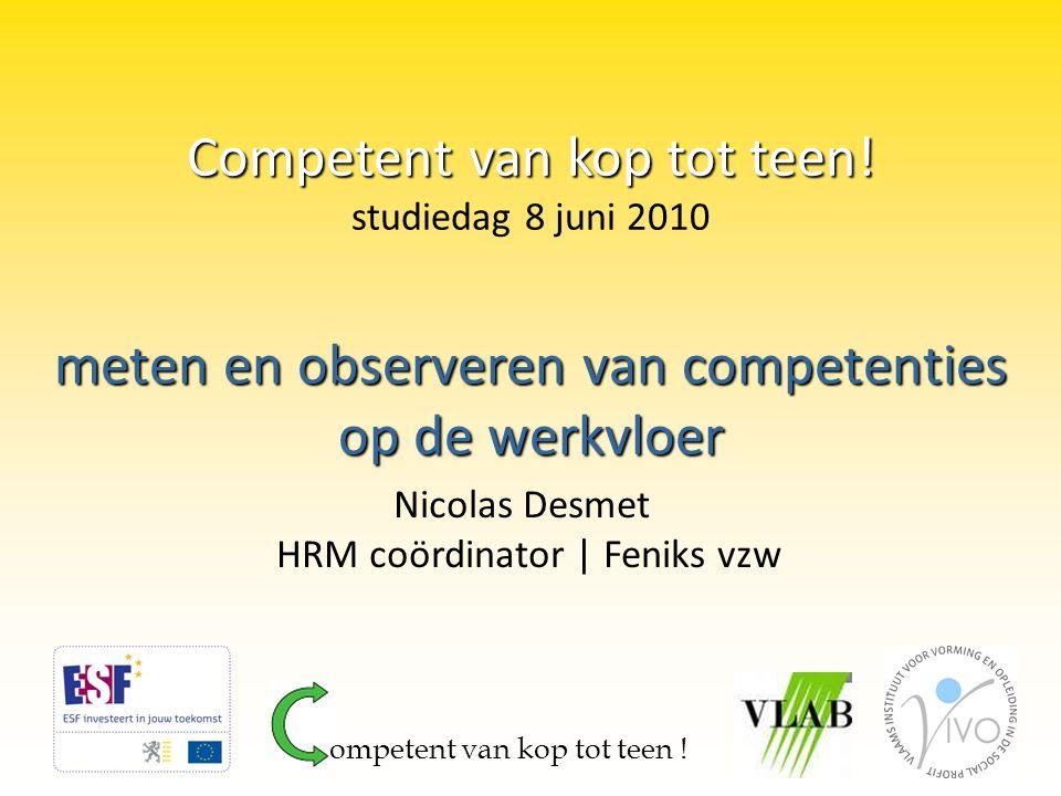 meten en observeren van competenties op de werkvloer